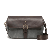 ONA Bowery Bag Smoke Canvas und Dark Truffle Leder