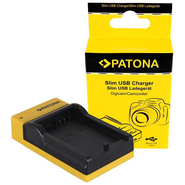 Slim Micro-USB Charger for Canon LP-E5 by Patona